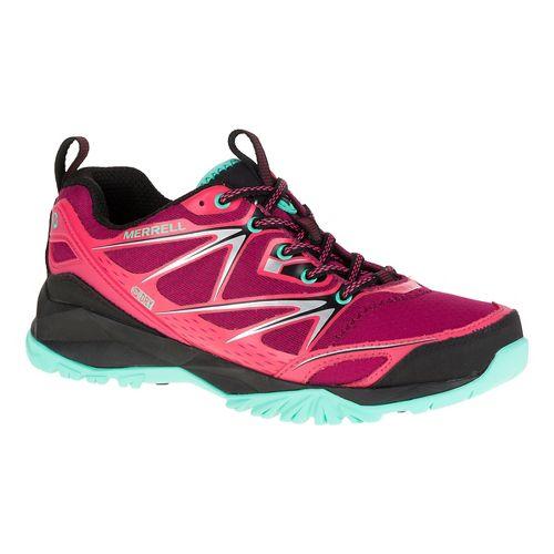 Womens Merrell Capra Bolt Waterproof Hiking Shoe - Bright Red 7.5