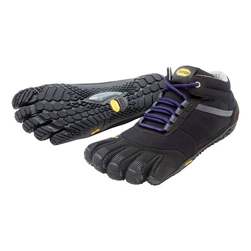 Womens Vibram FiveFingers Trek Ascent Insulated Trail Running Shoe - Black/Purple 37