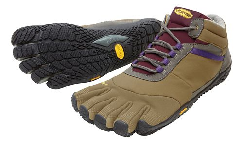 Womens Vibram FiveFingers Trek Ascent Insulated Trail Running Shoe - Brown/Grape 37