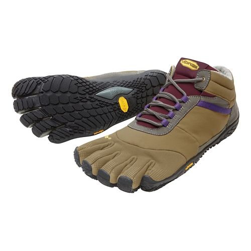 Womens Vibram FiveFingers Trek Ascent Insulated Trail Running Shoe - Brown/Grape 38
