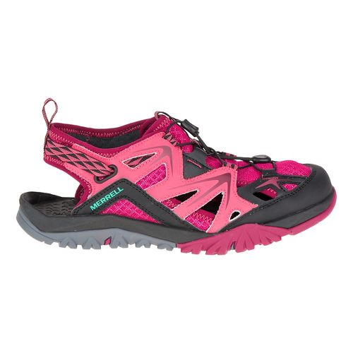 Womens Merrell Capra Rapid Sieve Hiking Shoe - Bright Red 7.5