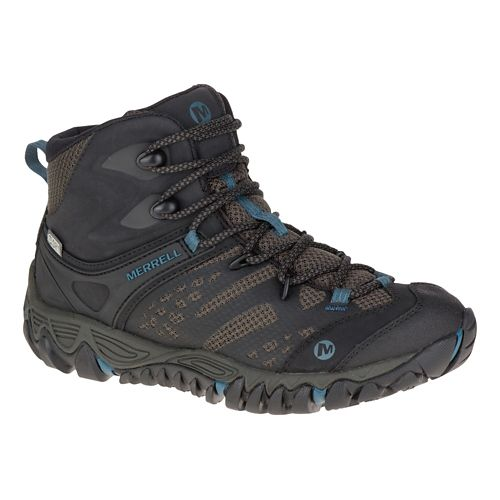Womens Merrell All Out Blaze Vent Mid Waterproof Hiking Shoe - Black 5