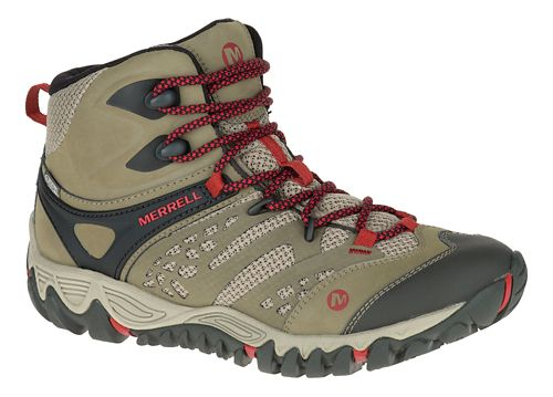 Womens Merrell All Out Blaze Vent Mid Waterproof Hiking Shoe - Brown 10