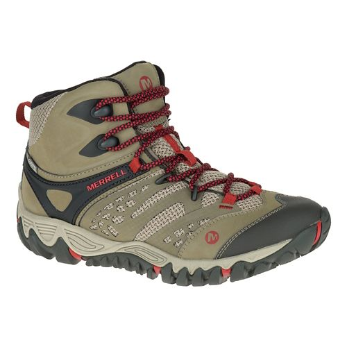 Womens Merrell All Out Blaze Vent Mid Waterproof Hiking Shoe - Brown 11