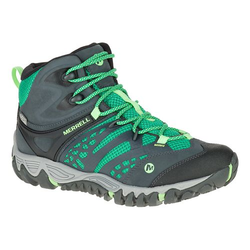 Womens Merrell All Out Blaze Vent Mid Waterproof Hiking Shoe - Bright Green 9.5
