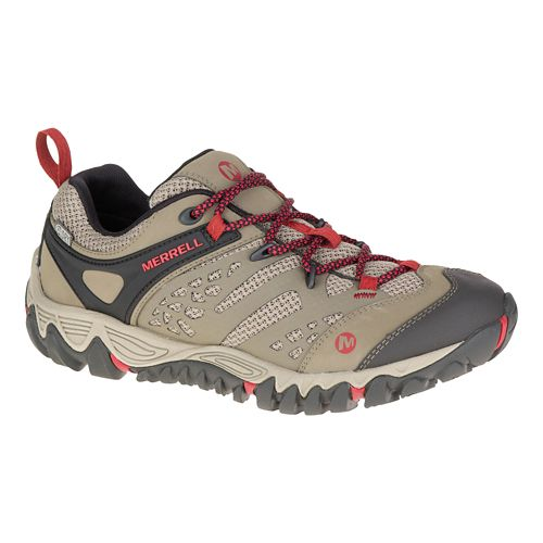 Womens Merrell All Out Blaze Vent Waterproof Hiking Shoe - Brown 10