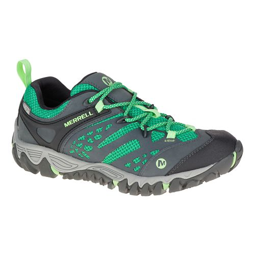 Womens Merrell All Out Blaze Vent Waterproof Hiking Shoe - Bright Green 8