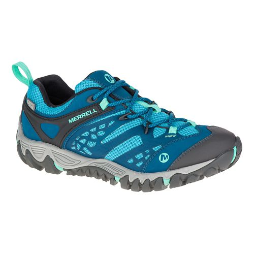 Womens Merrell All Out Blaze Vent Waterproof Hiking Shoe - Turquoise 10.5