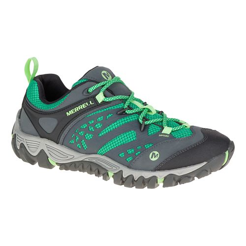 Womens Merrell All Out Blaze Vent Hiking Shoe - Bright Green 7.5