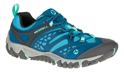 Womens Merrell All Out Blaze Vent Hiking Shoe - Turquoise 7.5