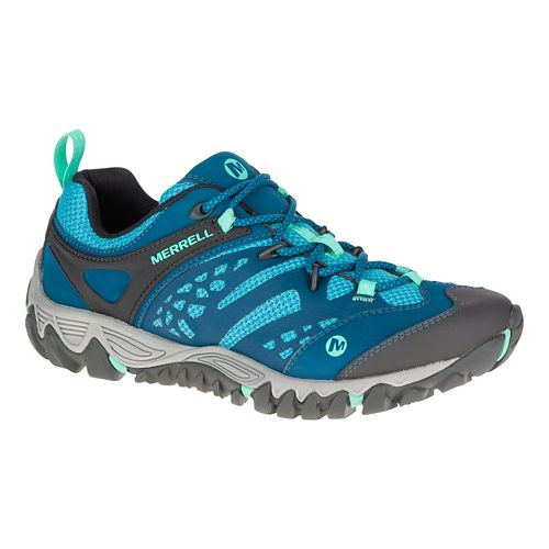 Womens Merrell All Out Blaze Vent Hiking Shoe - Turquoise 10.5