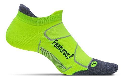 Feetures Elite Max Cushion No Show Tab Socks - Reflector/Carbon M