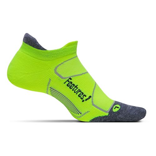 Feetures Elite Max Cushion No Show Tab Socks - Reflector/Carbon M