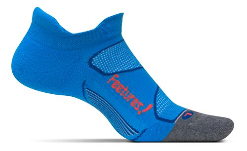 Feetures Elite Max Cushion No Show Tab Socks - Bright Blue/Lava L