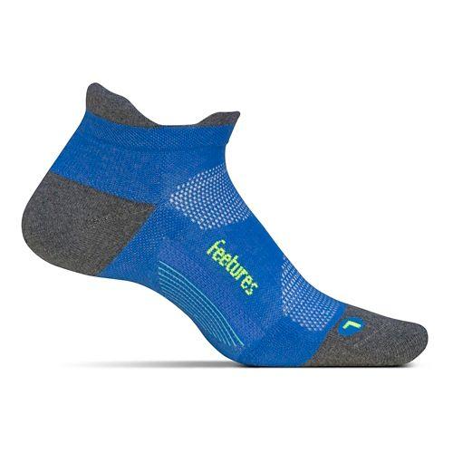 Feetures Elite Max Cushion No Show Tab Socks - True Blue M