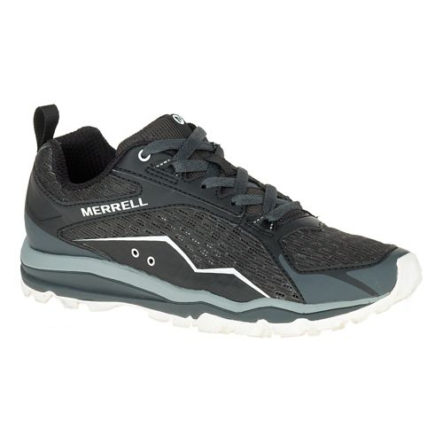 Womens Merrell All Out Crush Trail Running Shoe - Black 5