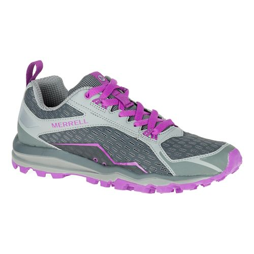 Womens Merrell All Out Crush Trail Running Shoe - Grey 9