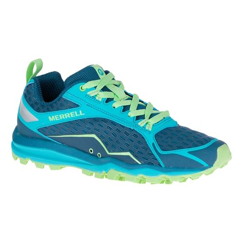 Womens Merrell All Out Crush Trail Running Shoe - Bright Green 7