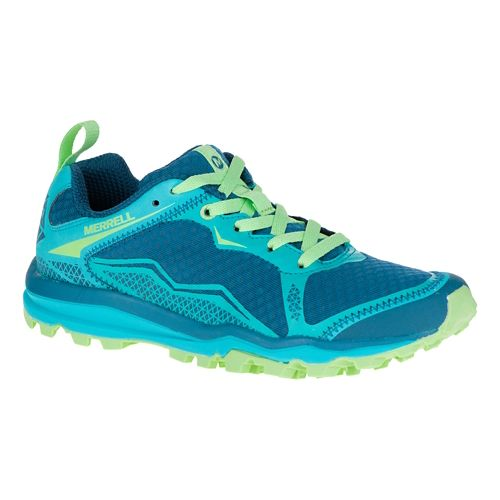 Womens Merrell All Out Crush Light Trail Running Shoe - Bright Green 9