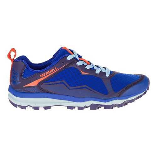 Womens Merrell All Out Crush Light Trail Running Shoe - Surf The Web 10