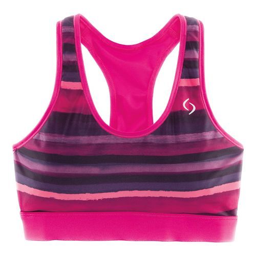 Womens Brooks SureShot Racer Sports Bras - Bloom Scape M