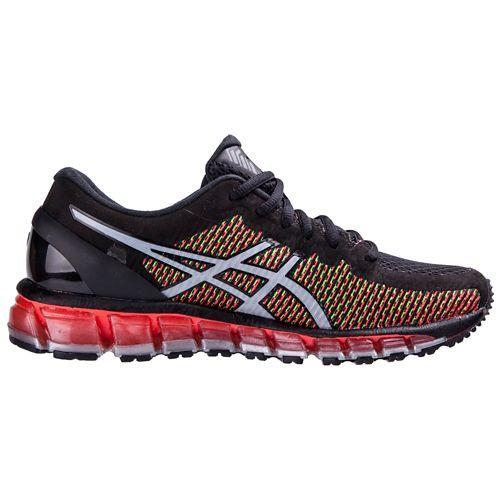 Mens ASICS GEL-Quantum 360 CM Running Shoe - Black/Red 12.5