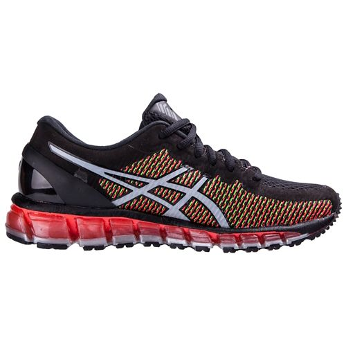 Mens ASICS GEL-Quantum 360 CM Running Shoe - Black/Red 7.5