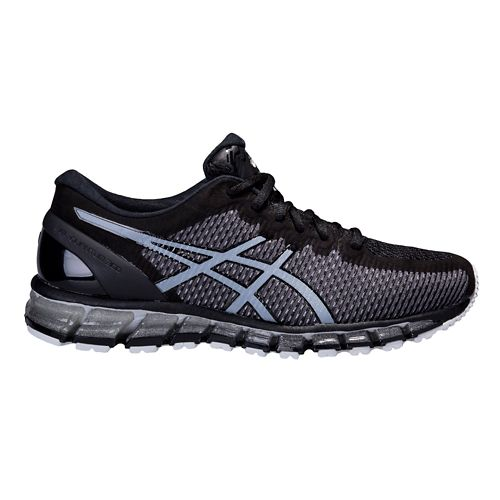 Mens ASICS GEL-Quantum 360 CM Running Shoe - Black/Grey 11