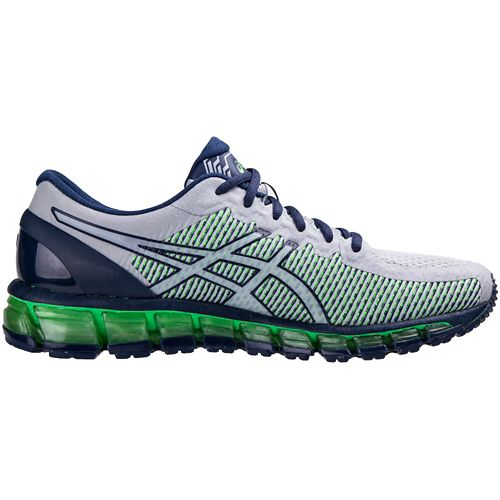 Mens ASICS GEL-Quantum 360 CM Running Shoe - Grey/Green 12.5