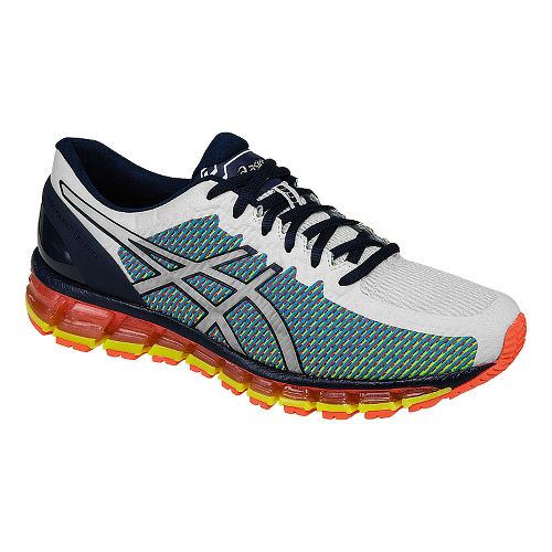 Mens ASICS GEL-Quantum 360 CM Running Shoe - White/Navy 11.5