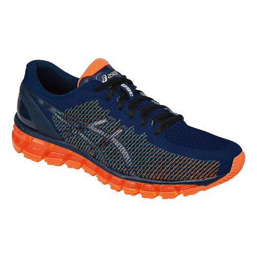 Mens ASICS GEL-Quantum 360 CM Running Shoe - Blue/Orange 12