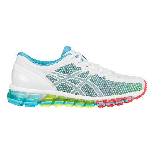 Womens ASICS GEL-Quantum 360 CM Running Shoe - White/Coral 8.5