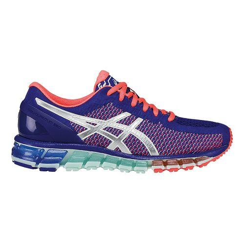 Womens ASICS GEL-Quantum 360 CM Running Shoe - Blue/Coral 8.5