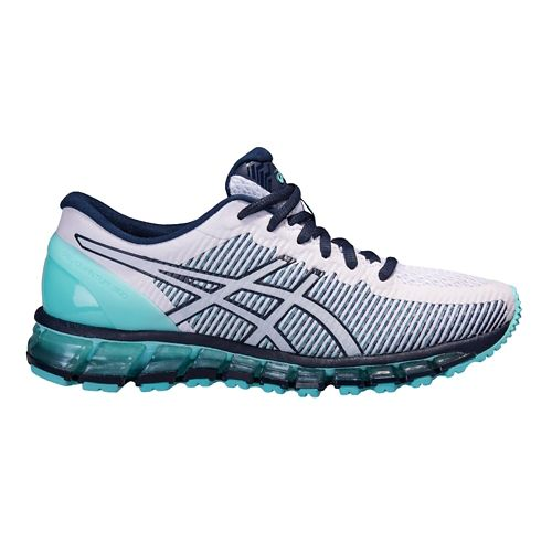 Womens ASICS GEL-Quantum 360 CM Running Shoe - White/Mint 10.5