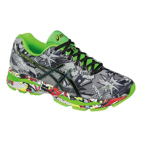 Mens ASICS GEL-Nimbus 18 Comic Running Shoe - Multi 10