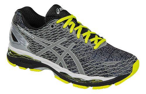 Mens ASICS GEL-Nimbus 18 Lite-Show Running Shoe - Black/Silver 8
