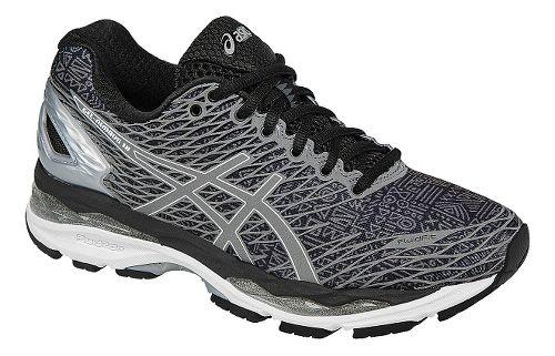 Womens ASICS GEL-Nimbus 18 Lite-Show Running Shoe - Black/Silver 6