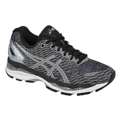 Womens ASICS GEL-Nimbus 18 Lite-Show Running Shoe - Black/Silver 9