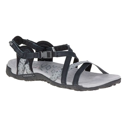 Womens Merrell Terran Lattice II Sandals Shoe - Black 6