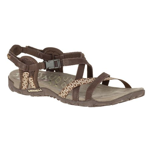 Womens Merrell Terran Lattice II Sandals Shoe - Dark Earth 10