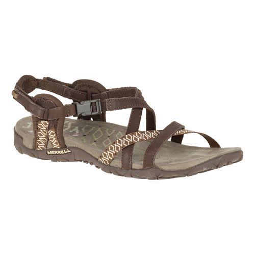 Womens Merrell Terran Lattice II Sandals Shoe - Dark Earth 7