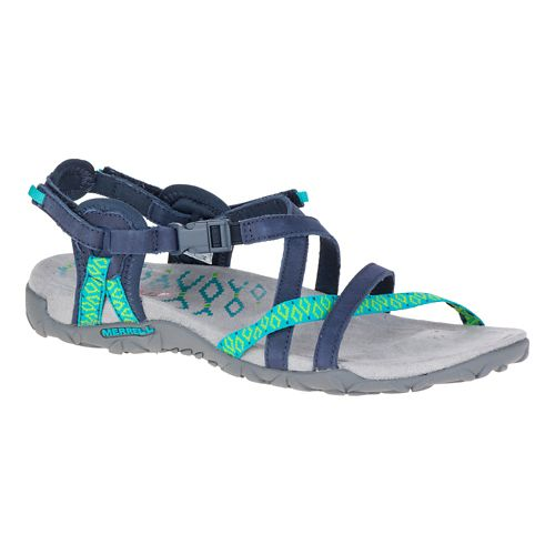 Womens Merrell Terran Lattice II Sandals Shoe - Navy 5