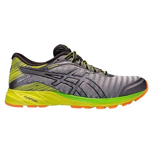 Mens ASICS DynaFlyte Running Shoe - Grey/Black 10.5