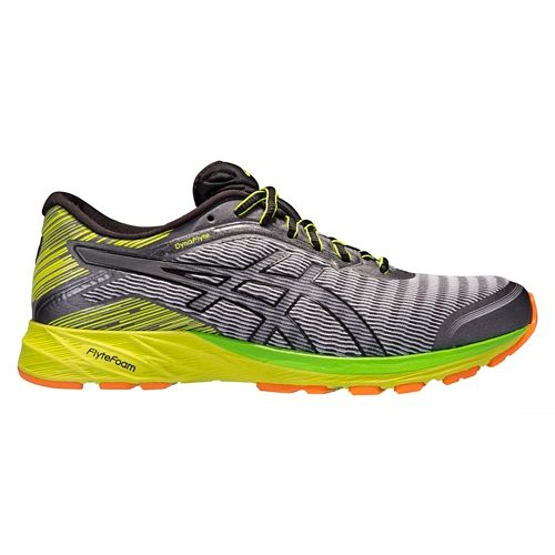 Mens ASICS DynaFlyte Running Shoe - Grey/Black 9.5