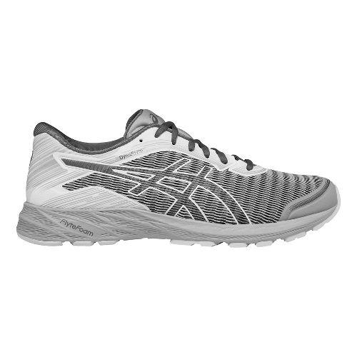 Mens ASICS DynaFlyte Running Shoe - Carbon/White 8