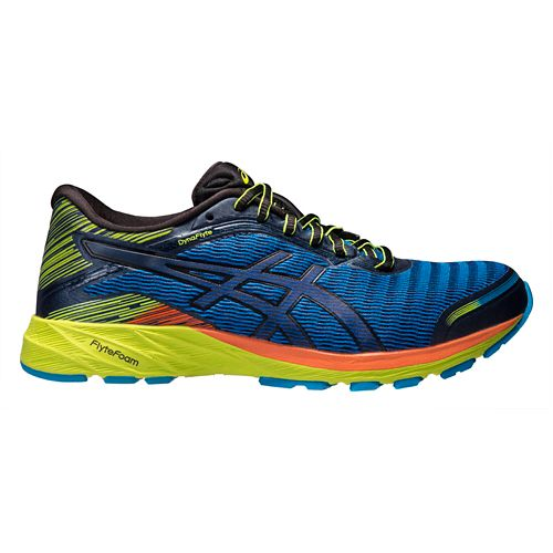 Mens ASICS DynaFlyte Running Shoe - Blue/Black 10.5