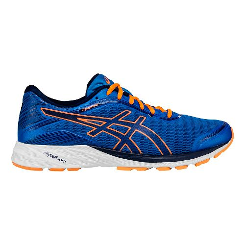 Mens ASICS DynaFlyte Running Shoe - Blue/Orange 8.5
