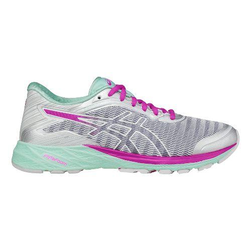 Womens ASICS DynaFlyte Running Shoe - White/Silver 6