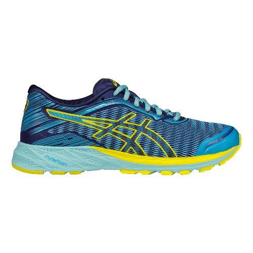 Womens ASICS DynaFlyte Running Shoe - Sun/Blue 10