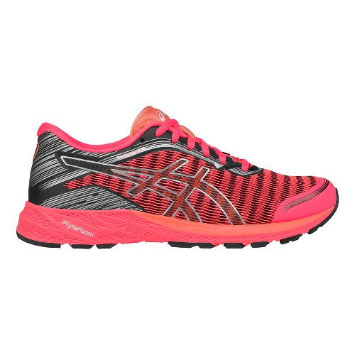Womens ASICS DynaFlyte Running Shoe - Pink/Silver 8.5